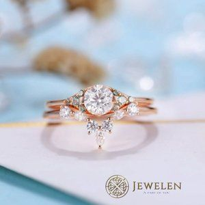 1 Ct White Moissanite Rose Gold Ring/Made To Order
